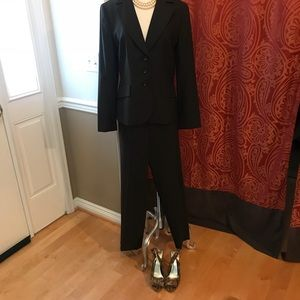Ann Taylor Dark Brown Fully Lined Suit